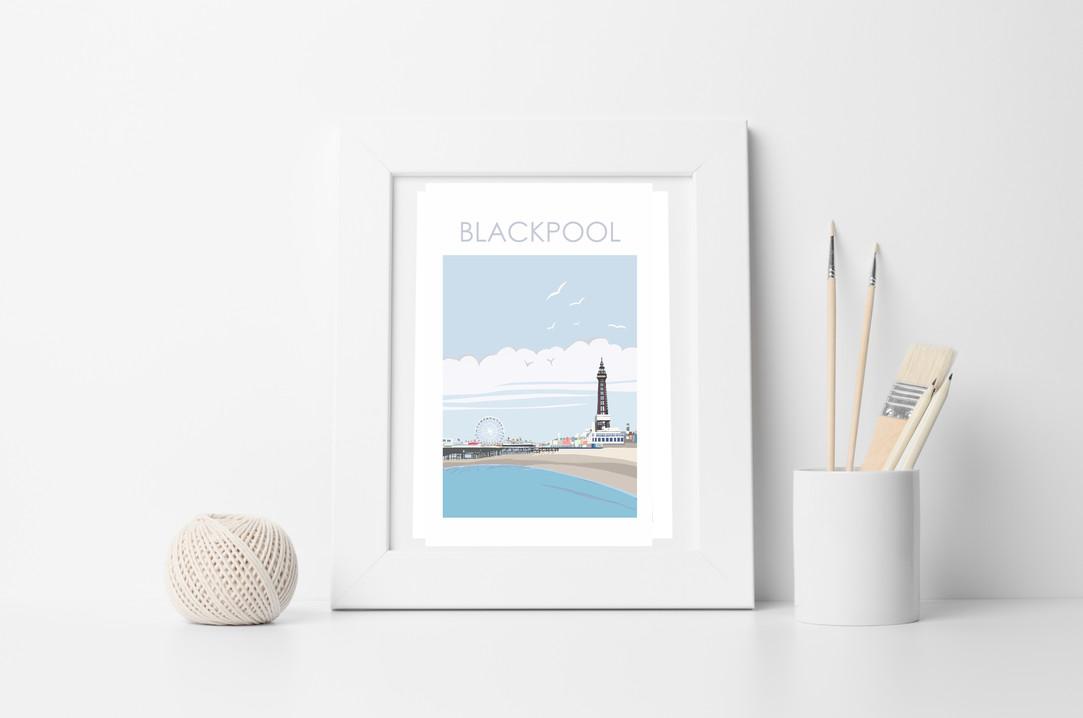 BLACKPOOL white framed .jpg