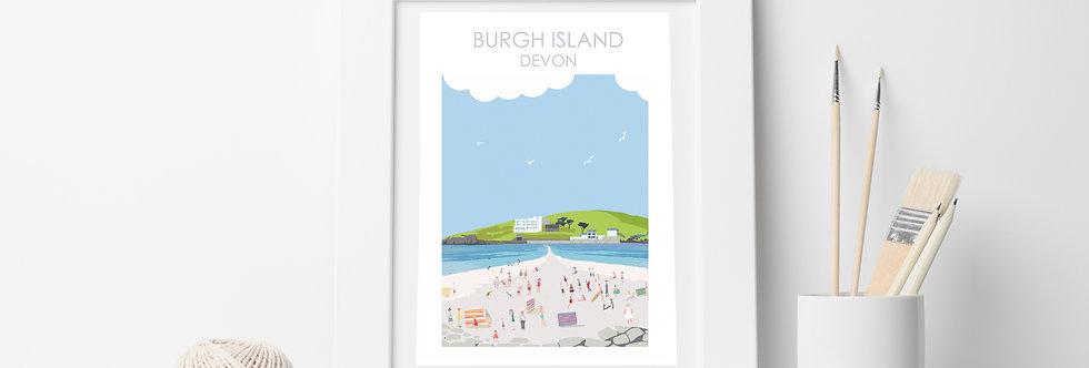 BURGH ISLAND DEVON PRINT