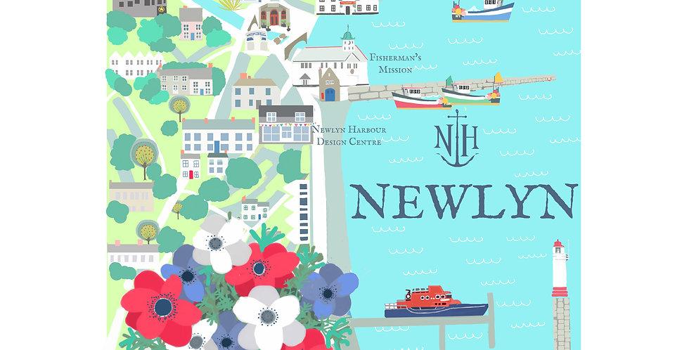 NEWLYN MAP CARD