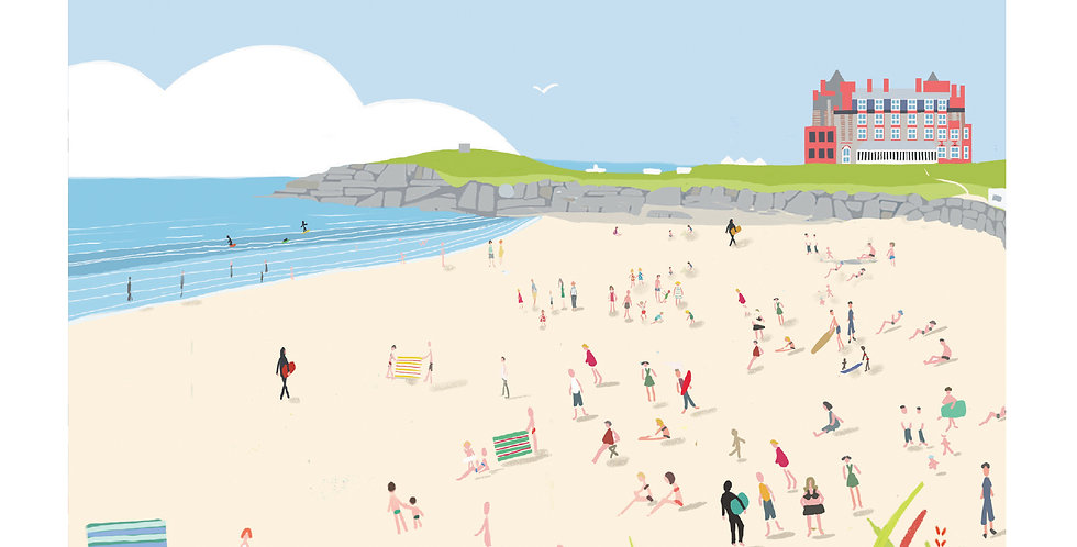 FISTRAL BEACH CORNWALL Greeting Card 1 or pack of 4