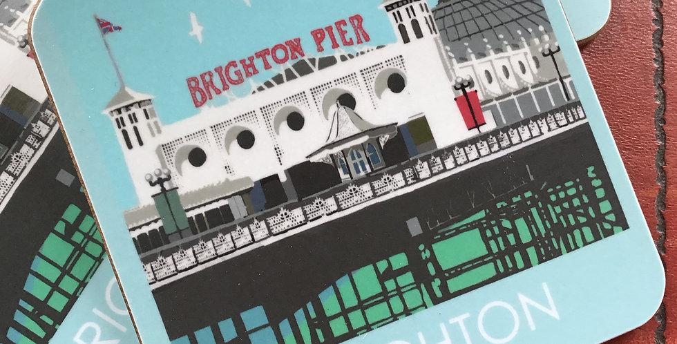 Brighton Pier 4 coasters