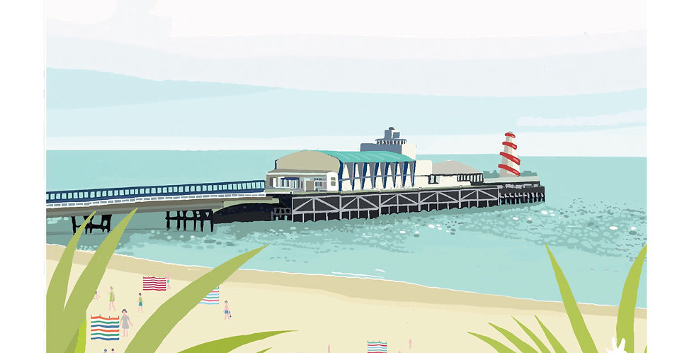 BOURNEMOUTH PIER DORSET Greeting Card 1 or pack of 4