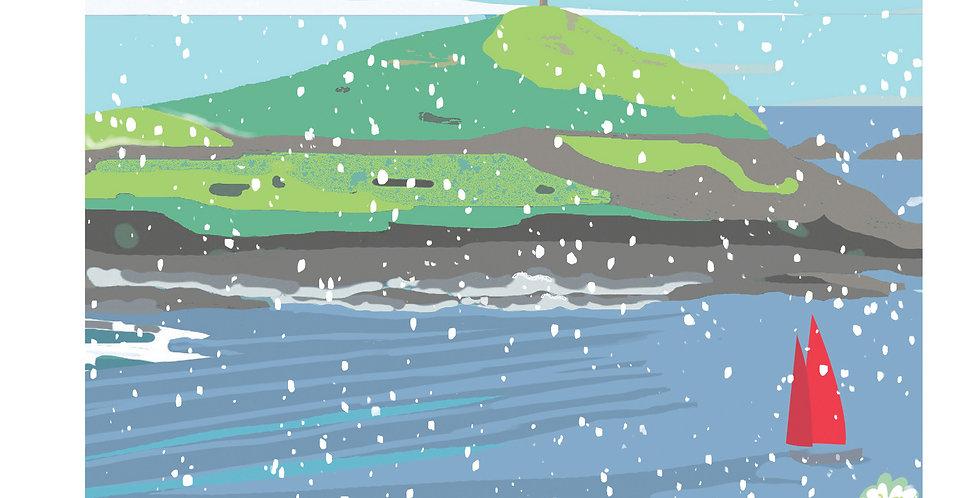 Cape Cornwall  Christmas Card pack 5