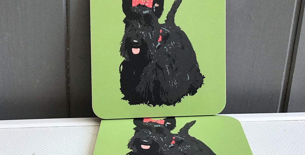 SCOTTIE SET OF 2  COASTERS