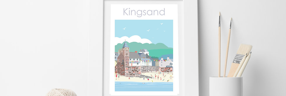 KINGSANDS  CORNWALL PRINT