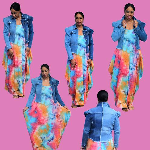 Cotton Candy Tie Dye Maxi Dress