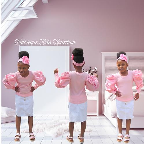 Paisley Pink Ruffle Top