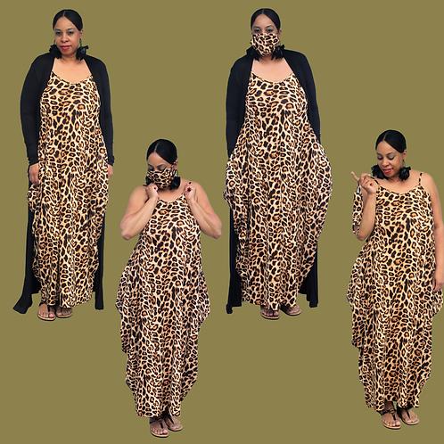 Leopardiness Maxi Dress