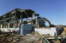 building demolition shear