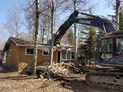 cabin demolition
