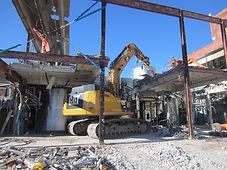 Excavator Shear demolition