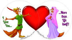 Robin Hood & Marian Valentines Set