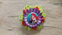Small Ariel w/ Hat Flower Clip