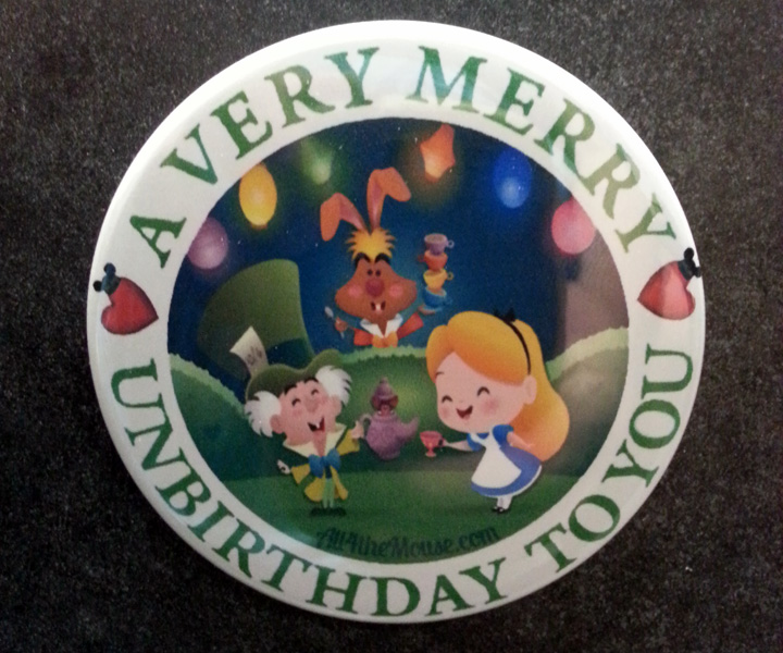 Very Merry Unbirthday Button