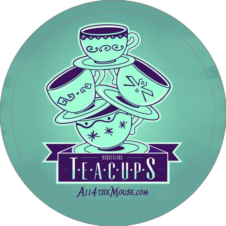 Wonderland Teacups Button