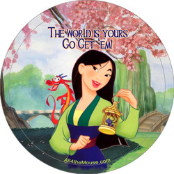 Mulan the World is Yours Button