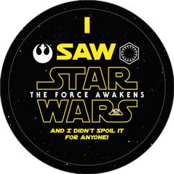 I saw Star Wars Button