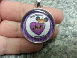 A4M Purple Halloween Heart Pendant