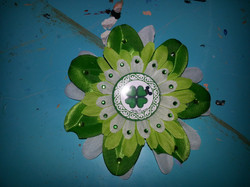 St Patricks Day Flowerclip w Crystal