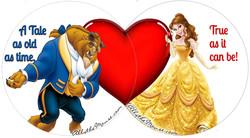 Beauty & the Beast Valentines Set