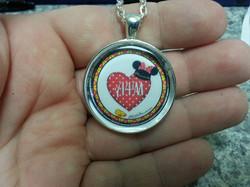 A4M Minnie Mouse Heart Pendant