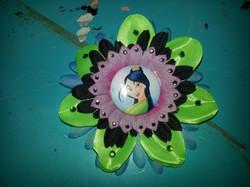 Mulan Flowerclip w Crystals