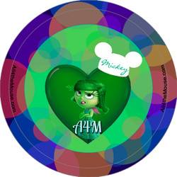 A4M Inside Out Disgust Button