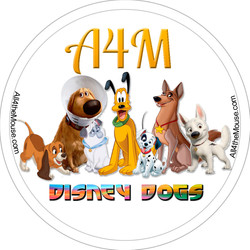 Disney Dogs Button