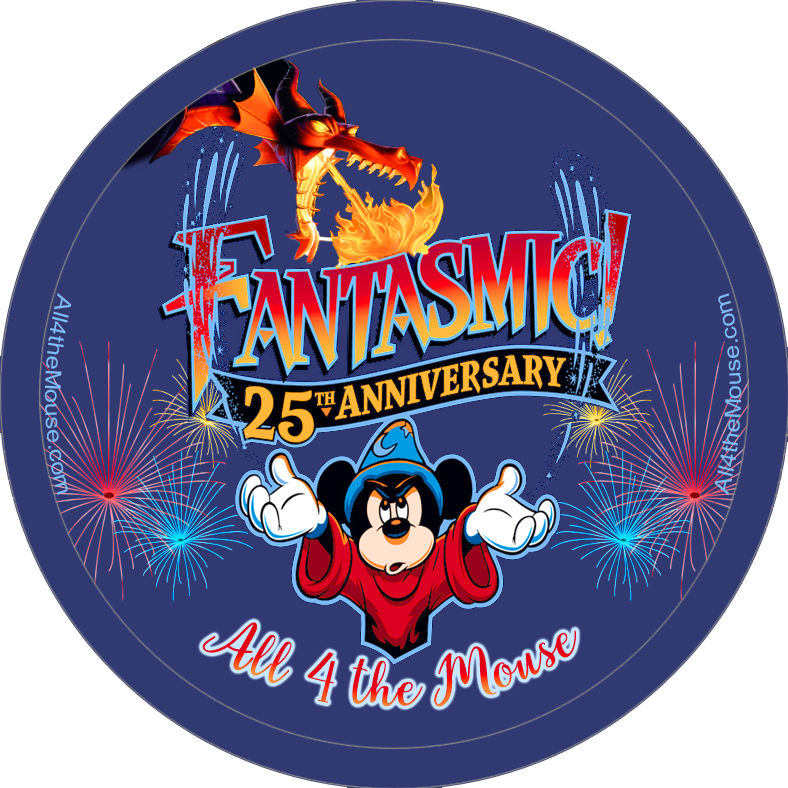 Fantasmic 25th Anniversary Button