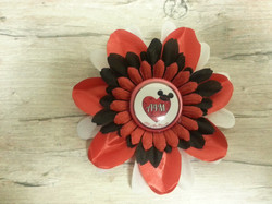 2016 A4M Red Flowerclip