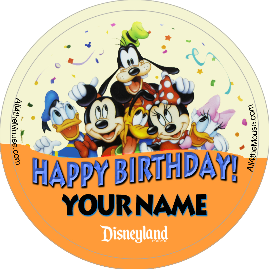 Happy Birthday Banner Button