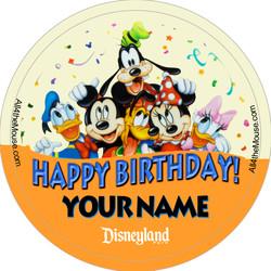 3in Bday Mickey & Friends w/ Banner