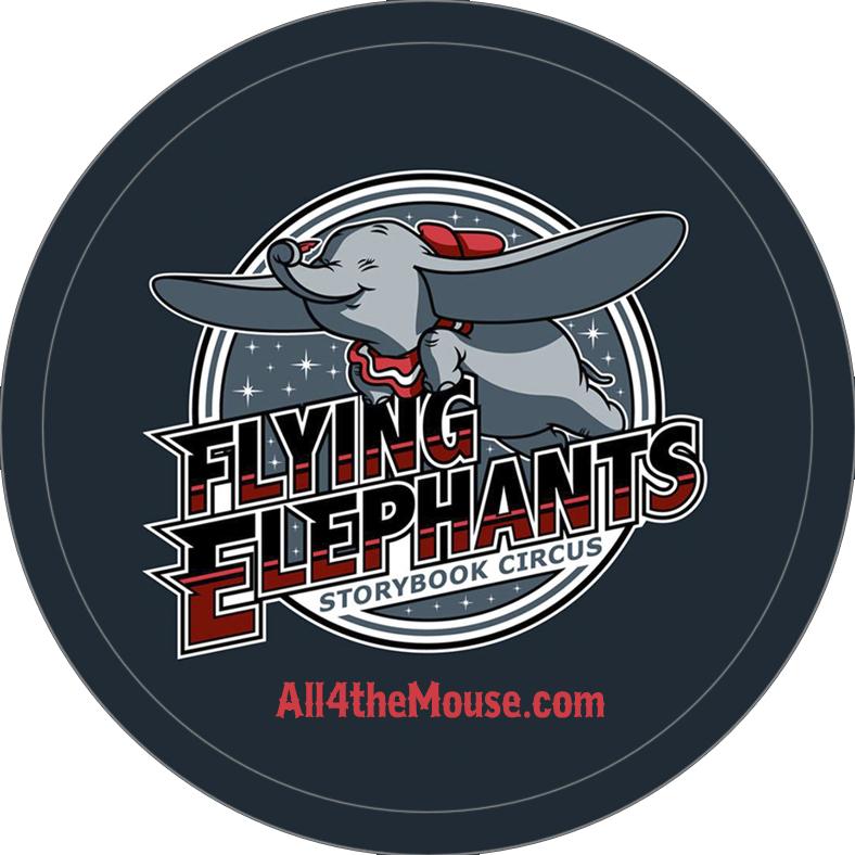 Flying Elephants Button