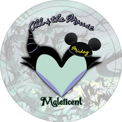 Maleficent Button