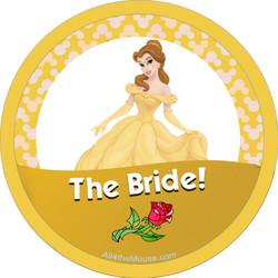 Belle as the Bride Button
