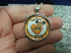 A4M Orange Halloween Heart Pendant