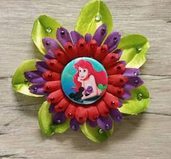 Ariel w/ Hat Flower Clip