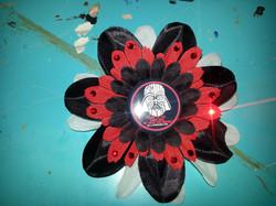 Darth Vader Flowerclip w Crystals