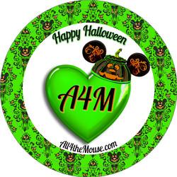 A4M Green Halloween 2015 Button