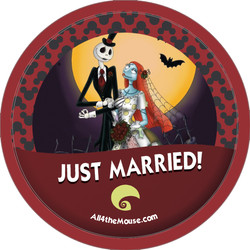 Jack & Sally Just Married Button
