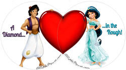 Aladdin & Jasmine Valentines Set