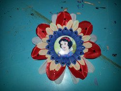 Snow White Flowerclip w Crystals