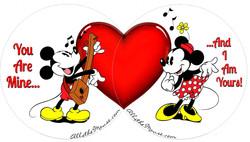 Mickey & Minnie Valentines Set
