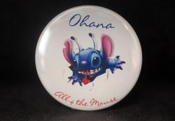 Ohana Stitch Escaping Button