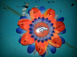 Broncos Flowerclip w Crystals