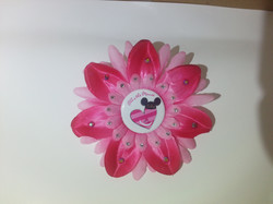 Cheshire Cat Heart Flowerclip