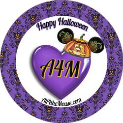 A4M Purple Halloween 2015 Button