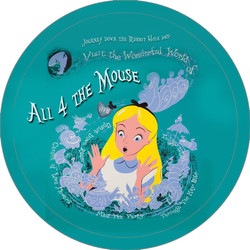 Alice in Wonderland Button