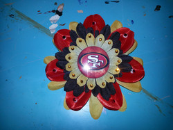 49ers Flowerclip w Crystals