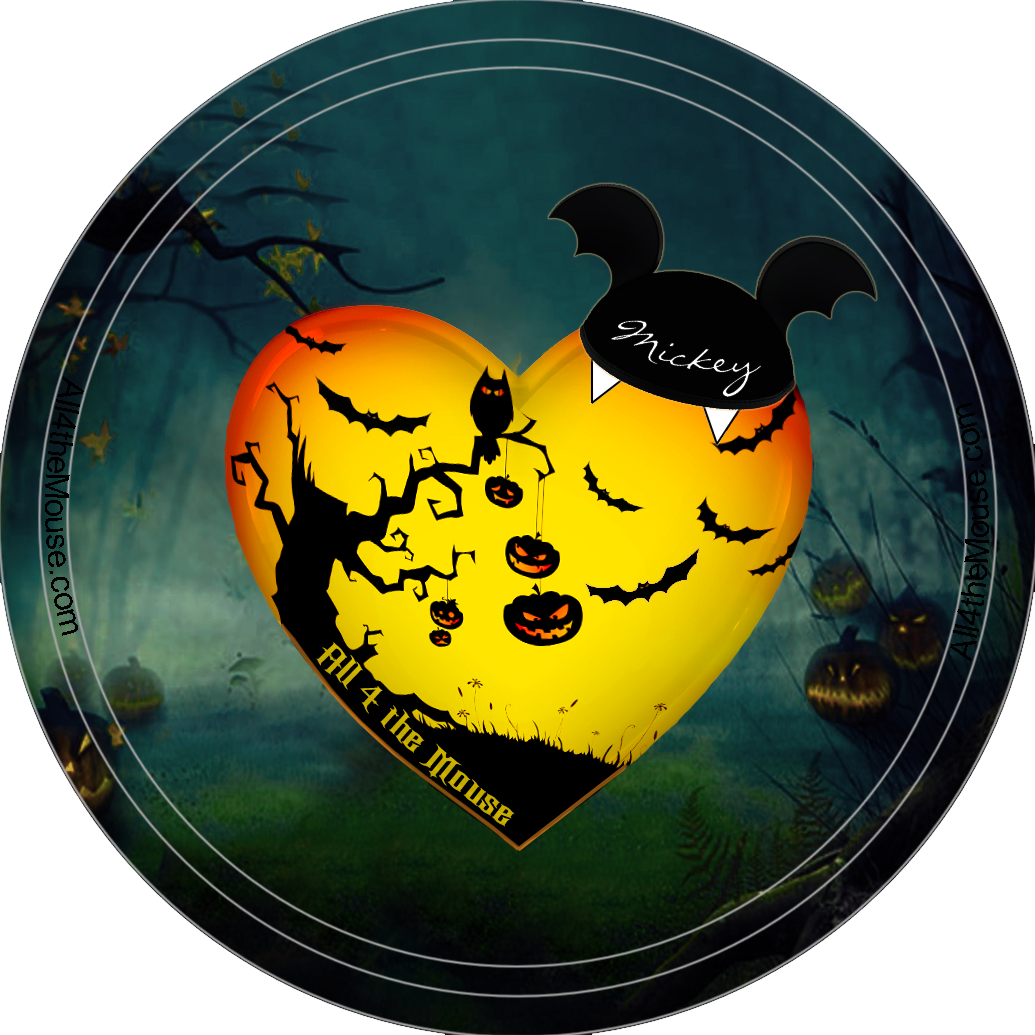 Halloween Pumpkin Tree Button